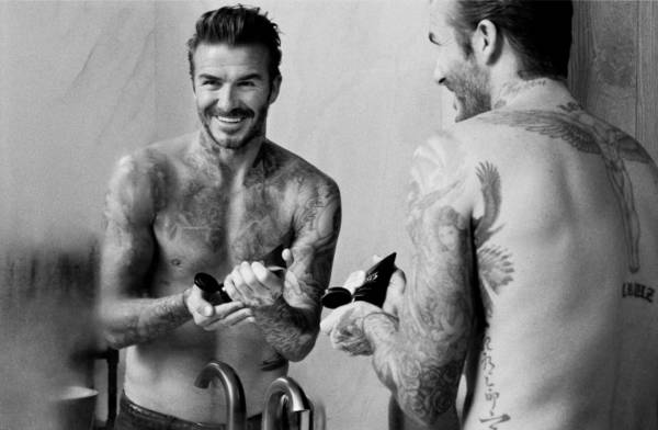 línea cosmética de Beckham width=