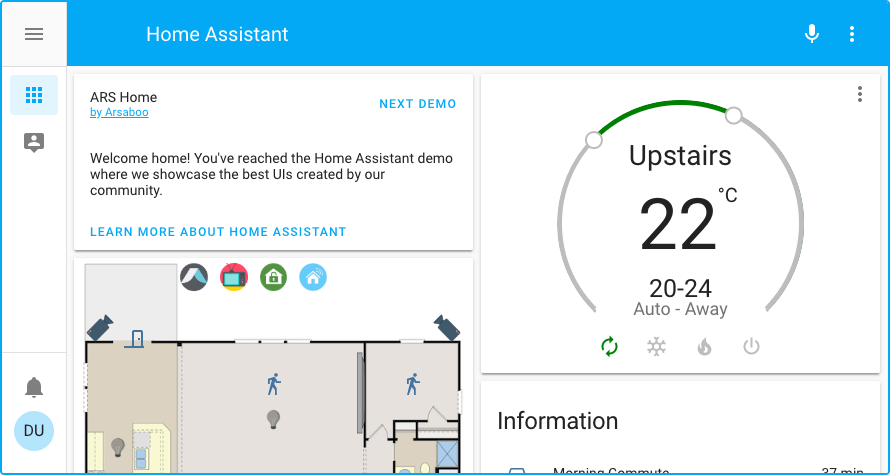 Home Assistant 0.96 sidebar
