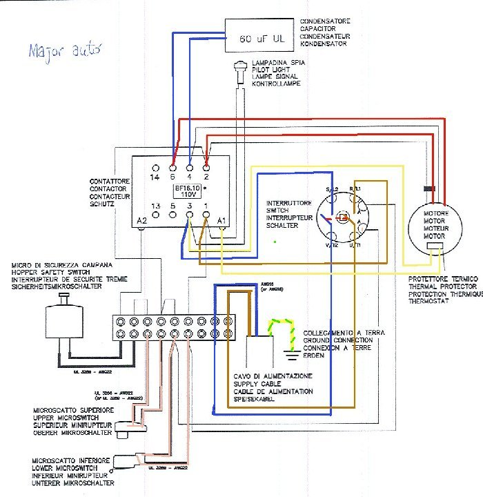 Need Help With Mazzer Major Wiring