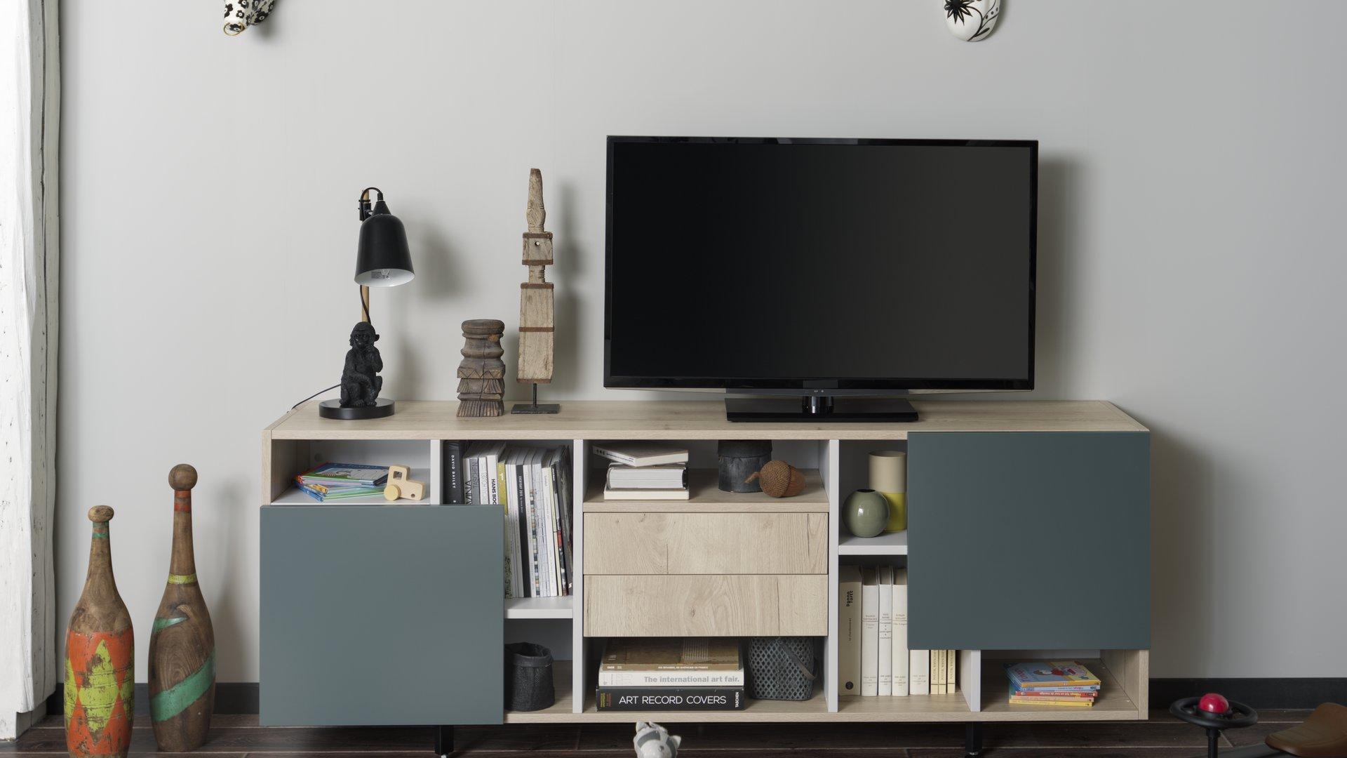 meuble tv avec rangement schmidt