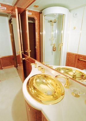 golden plane interior
