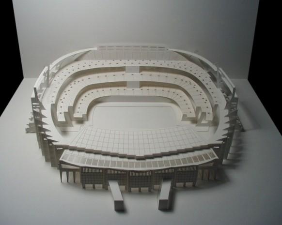 camp nou stadium paper