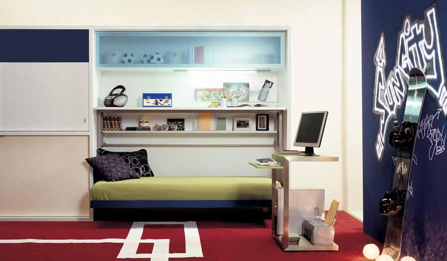 Ideas for Teen Rooms with Small Space on Small Teenage Bedroom  id=84480