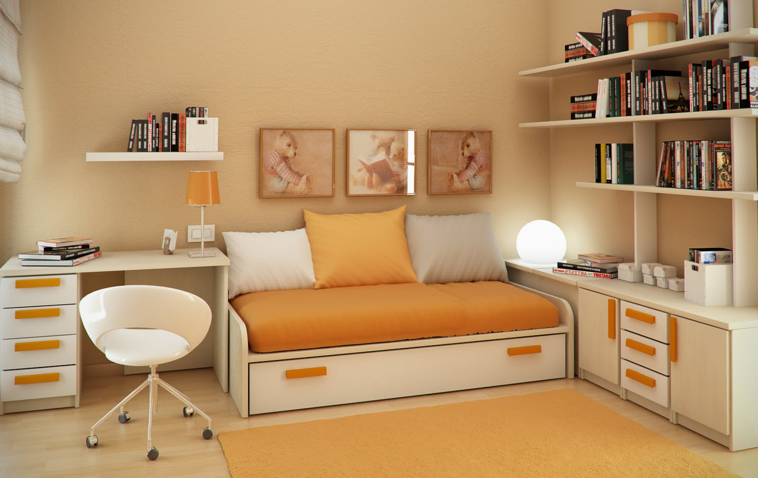 Home Sweet Home: Small Floorspace Kids Rooms on Beautiful Small Room  id=29034