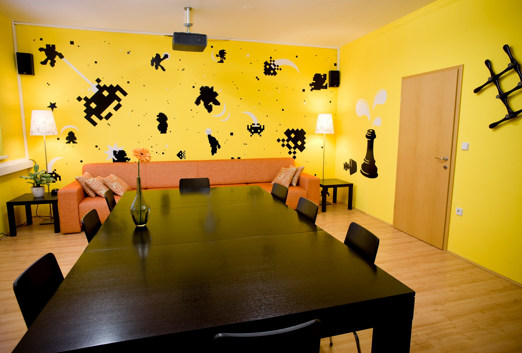In fact, some of the best room colors for your home can actually change your mood i. 36 Video-game-Wall-Decals-conference