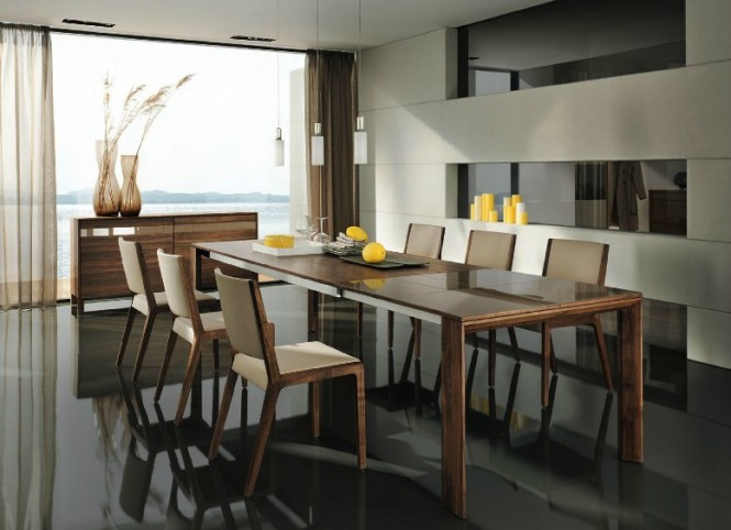The solid wood designs escape the clunky, chunky look sometimes associated with other furniture ranges of this highly durable type, and instead showcase finely crafted, slim-line styles to sit lightly and unobtrusively in an airy modern setting.