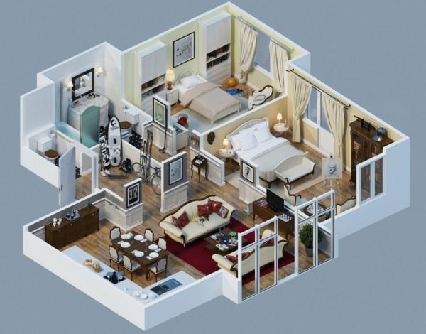 fancy apartment layout