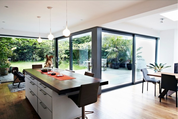 glass extension kitchen space