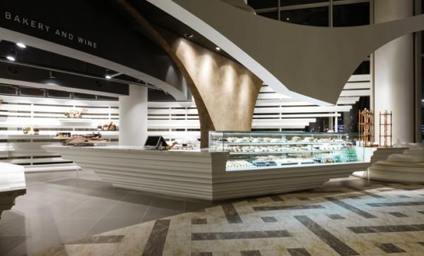sculpture column bakery design