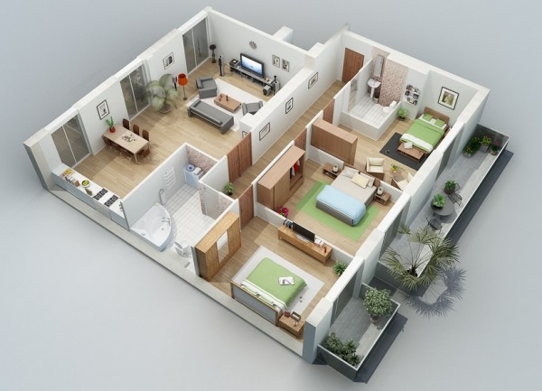 two bedroom greenery