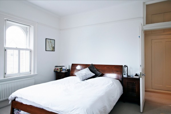 white bedroom space