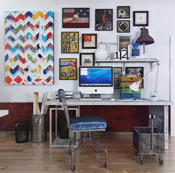 colorful wall decor