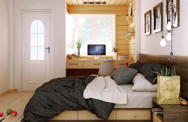 sunny rustic bedroom