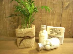 植木鉢を選ぶ 布でくるむ