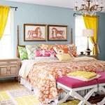 clip:黄色xブルーグレー+ピンク 寝室