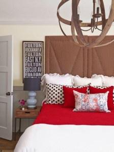 [clip]白x黒+赤 寝室のアクセントカラー