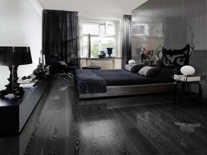 黒いフローリング Home Display