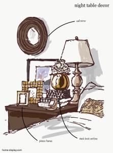 ベッドサイドテーブルデコレーション