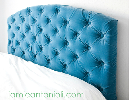 HOME DZINE Bedrooms   How to make a diamond tufted headboard tufted upholstered headboard