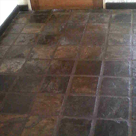 clean and strip slate tiles