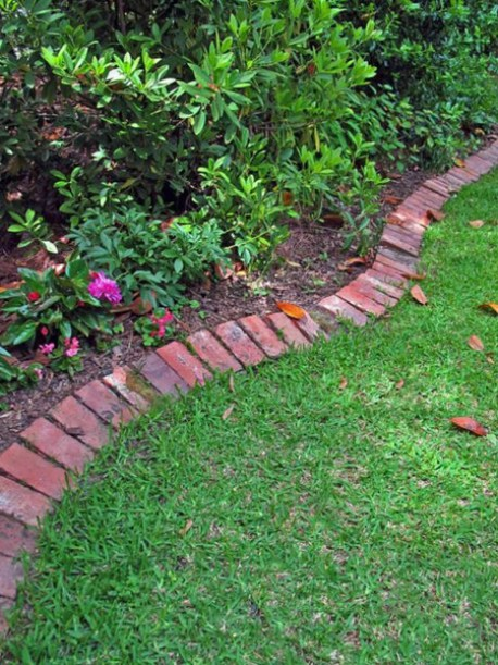 brick edging for garden