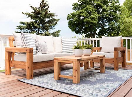 make a modern outdoor patio set