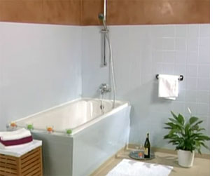 home dzine bathrooms | painting tiles for a weekend makeover