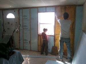 pulling out insulation