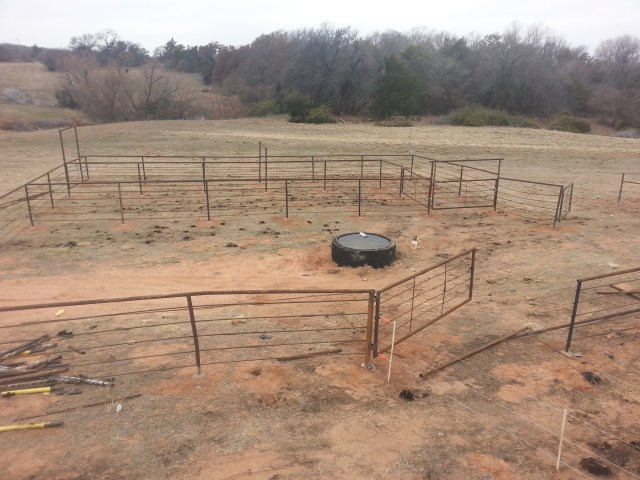 New corral built from oil-field waste