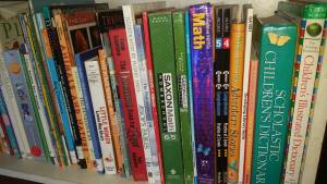 The homeschool bookshelf is growing