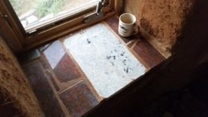 granite scrap window sill