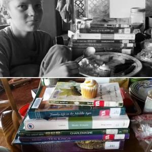 book pile boy 6th grade homeschool eclectic october 2017 music