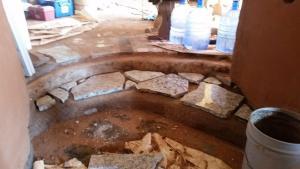 soil cement step granite pieces home farm