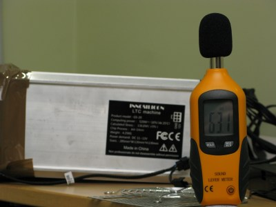 A4 Silverstone FHP141-VF Noise level with tape