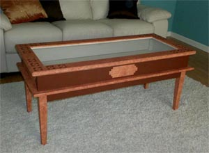 display coffee table plans