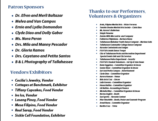 Sponsors Page 5