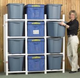 storage bin organizer system