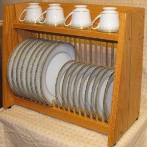 wooden plate rack
