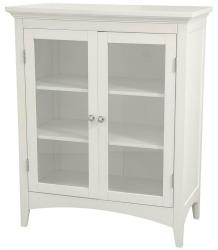 white linen cabinet