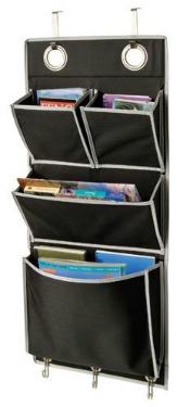 over the door magazine storage pockets