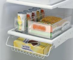 refrigerator and freezer storage bins