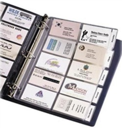 business card organizer binder pages
