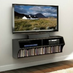 wall mounted entertainment center Living Room Organization