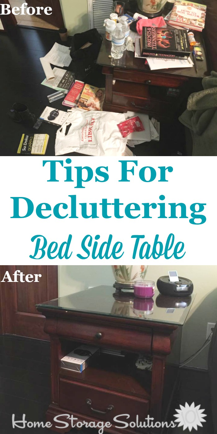 How To Declutter Your Nightstand Or Bedside Table