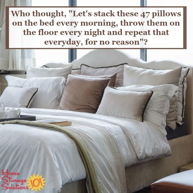 how to declutter pillows