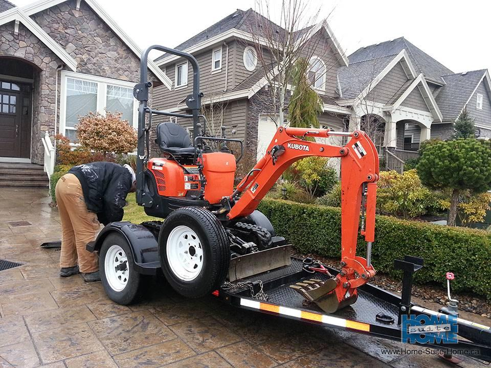Mini Backhoe Excavating And Digging Services Vancouver