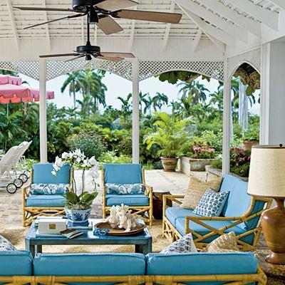Coastal Living - Go for glamour on your patio. Design a true outdoor living room
