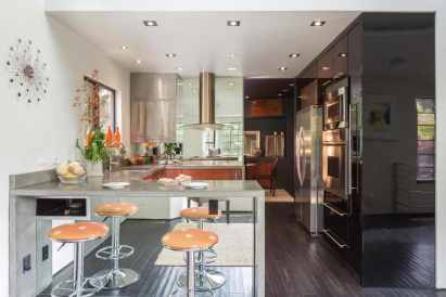 contemporary kitchen and bar stools to a whole new level