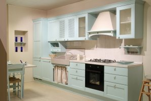 country kitchen with a creative touch