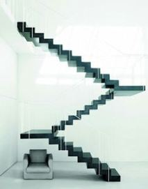 Floating Stairs, Stair Case, Staircase, Piero Lissoni, Architecture Stairs, Modern Stairs